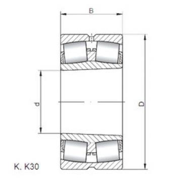 Rodamientos 23252 KW33 ISO