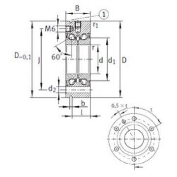 Rodamiento ZKLF1255-2RS INA