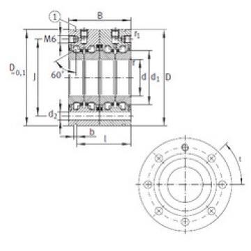 Rodamiento ZKLF3080-2RS-2AP INA