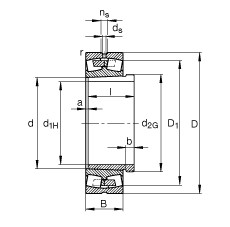 Rodamientos 23276-B-K-MB + AH3276G-H FAG
