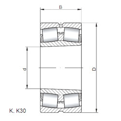 Rodamientos 23264 KCW33 CX