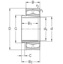Rodamientos 23264-K-MB-W33+AH3264 NKE