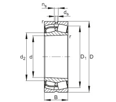 Rodamientos 23248-E1-K FAG