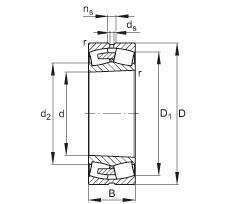 Rodamientos 23256-E1A-K-MB1 FAG