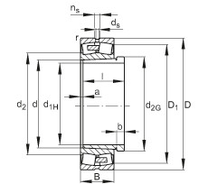 Rodamientos 23252-E1A-K-MB1 + AH2352G FAG