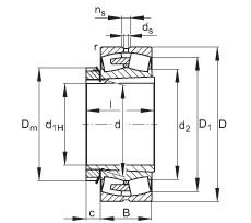 Rodamientos 23252-E1A-K-MB1 + H2352X FAG