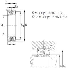 Rodamientos 23272-B-K-MB FAG